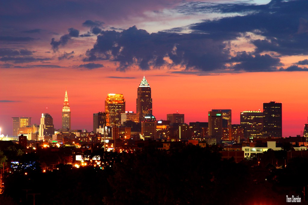 Cleveland by night