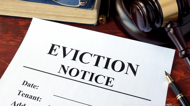 eviction notice on a desk